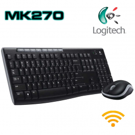 Teclado + ratón usb inalámbrico logitech MK270