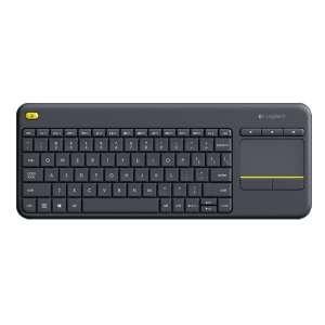 Teclado Logitech inalámbrico K400+ Plus Touch USB/inalámbrico
