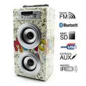 Altavoz Biwond JoyBox Guitar karaoke portable 10W bluetooth con micrófono