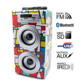 Altavoz Biwond JoyBox Picasso karaoke portable 10W bluetooth con micrófono