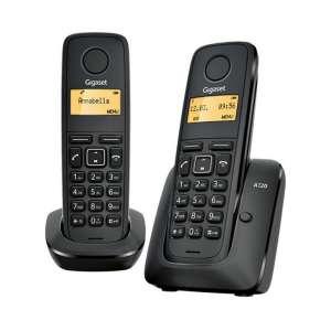 Teléfono sobremesa Gigaset inalámbrico A120 Duo negro
