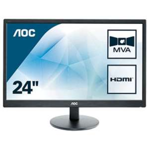 "Monitor 23.6"" LED AOC M2470SWH Full HD HDMI VGA negro"