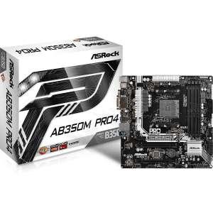 Placa base AMD SAM 4 ASRock AB350M PRO 4 DDR4 PCI-E SATA3 PCI HDMI DVI M-ATX