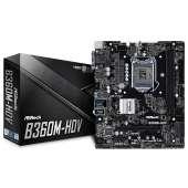Placa base S1151-V2 ASRock B360M-HDV 2DDR4/PCIE/SATA3/USB3.1/HDMI/DVI-D/mATX