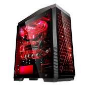 Caja Atx Semitorre Unyka Gaming Exagon Evo Cristal Templado Táctil USB3
