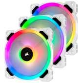 Ventilador caja adicional 12x12 Corsair LL120 RGB blanco Pack 3 uds