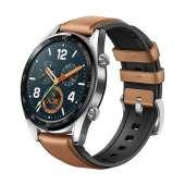 "Smartwatch Huawei GT Fashion 1.39"" GPS bluetiith correa piel-silicona marrón"