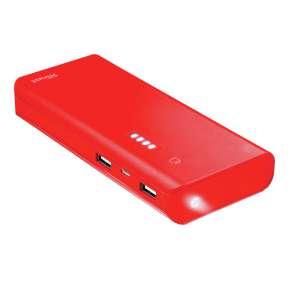 Cargador Powerbank Trsut 10000mAh USB 10V/2,1A linterna Summer Red