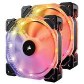 Ventilador Corsair caja adicional 14x14 HD140 RGB LED pack 2 controler
