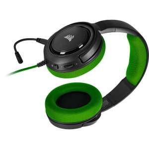 Auricular Corsair HS35 Gaming PC verde USB CA-9011197-EU